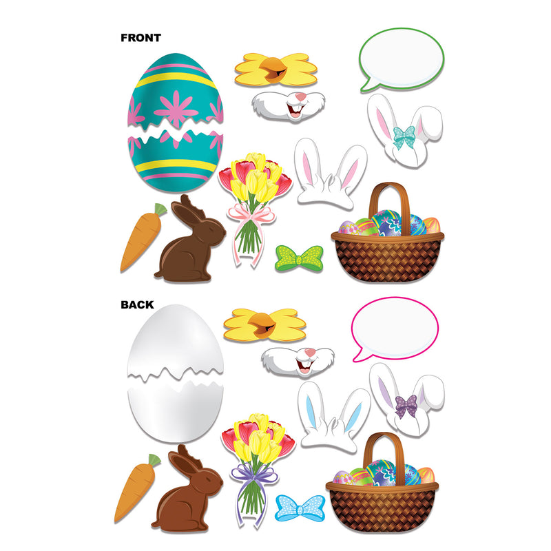 Easter Photo Fun Signs (12/Pkg) by Beistle - Easter Theme Decorations