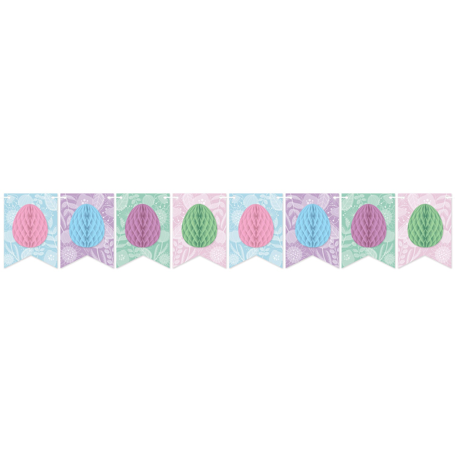 Easter Tissue Egg Streamer by Beistle - Easter Theme Decorations