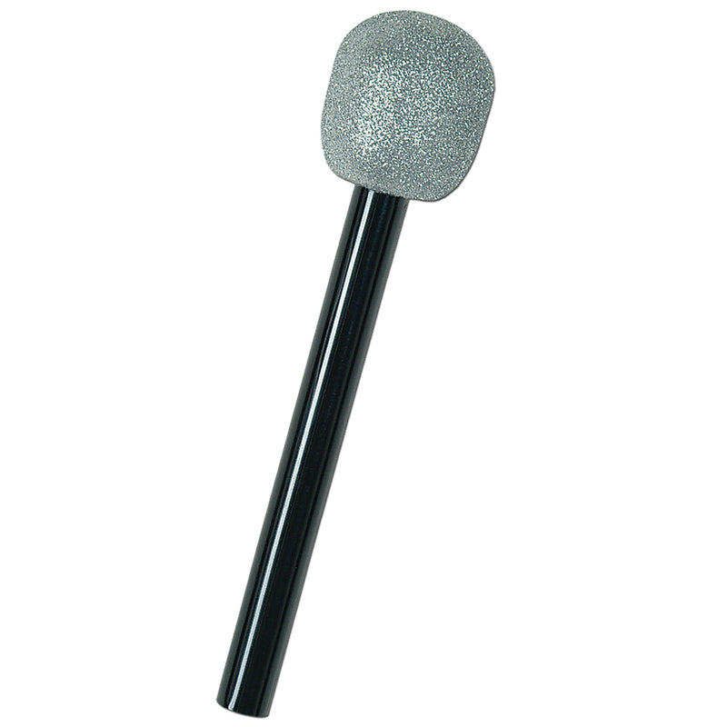 Glittered Microphone, silver & black by Beistle - Awards Night Theme Decorations
