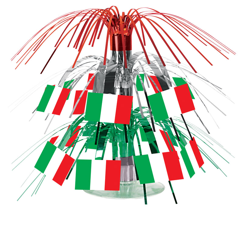 Italian Flag Mini Cascade Centerpiece by Beistle - Italian Theme Decorations