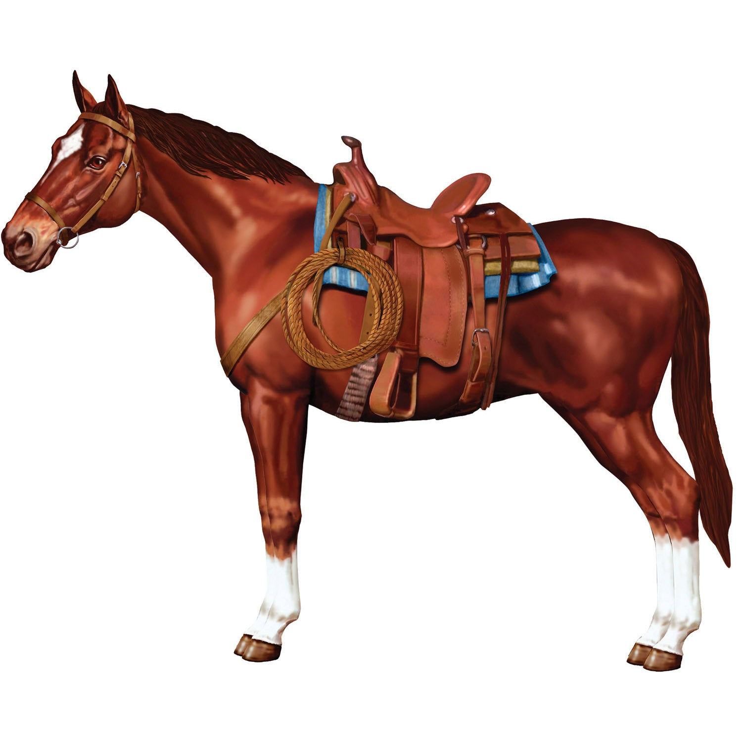 Jointed Horse by Beistle - Western Theme Decorations