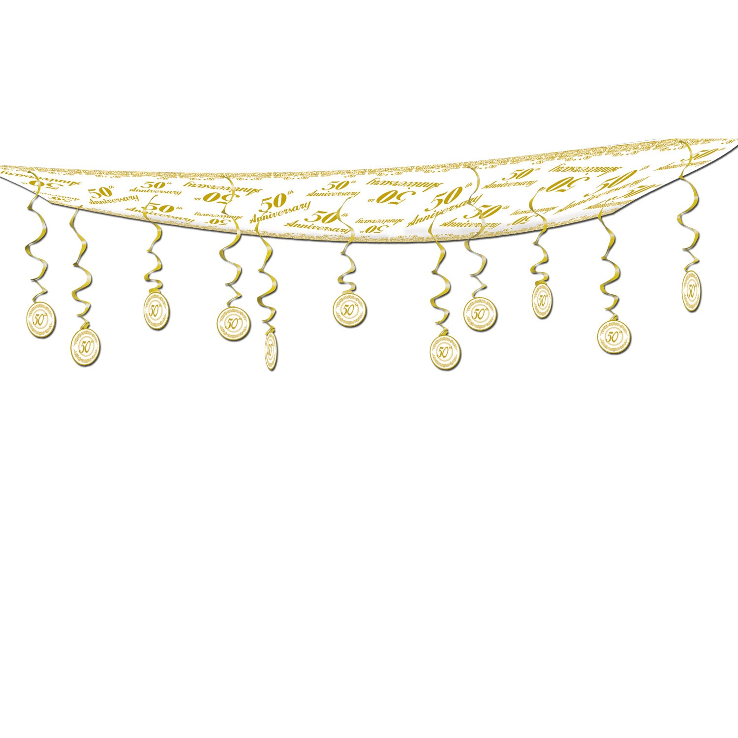 50th Anniversary Ceiling Decor by Beistle - Anniversary Theme Decorations