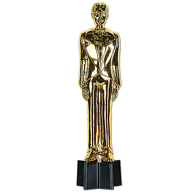 Awards Night Male Statuette by Beistle - Awards Night Theme Decorations
