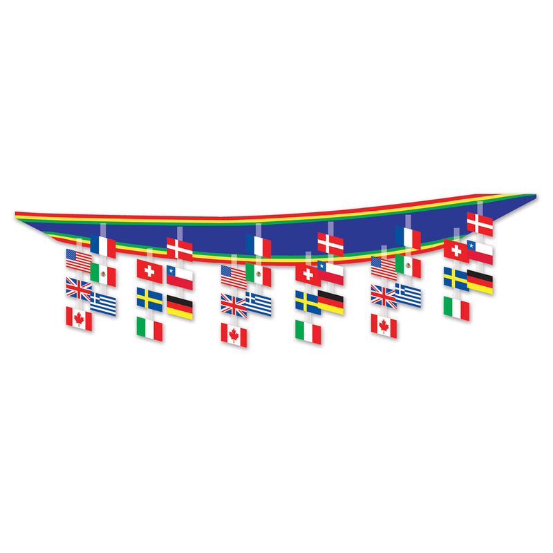International Flag Ceiling Decor by Beistle - International Theme Decorations