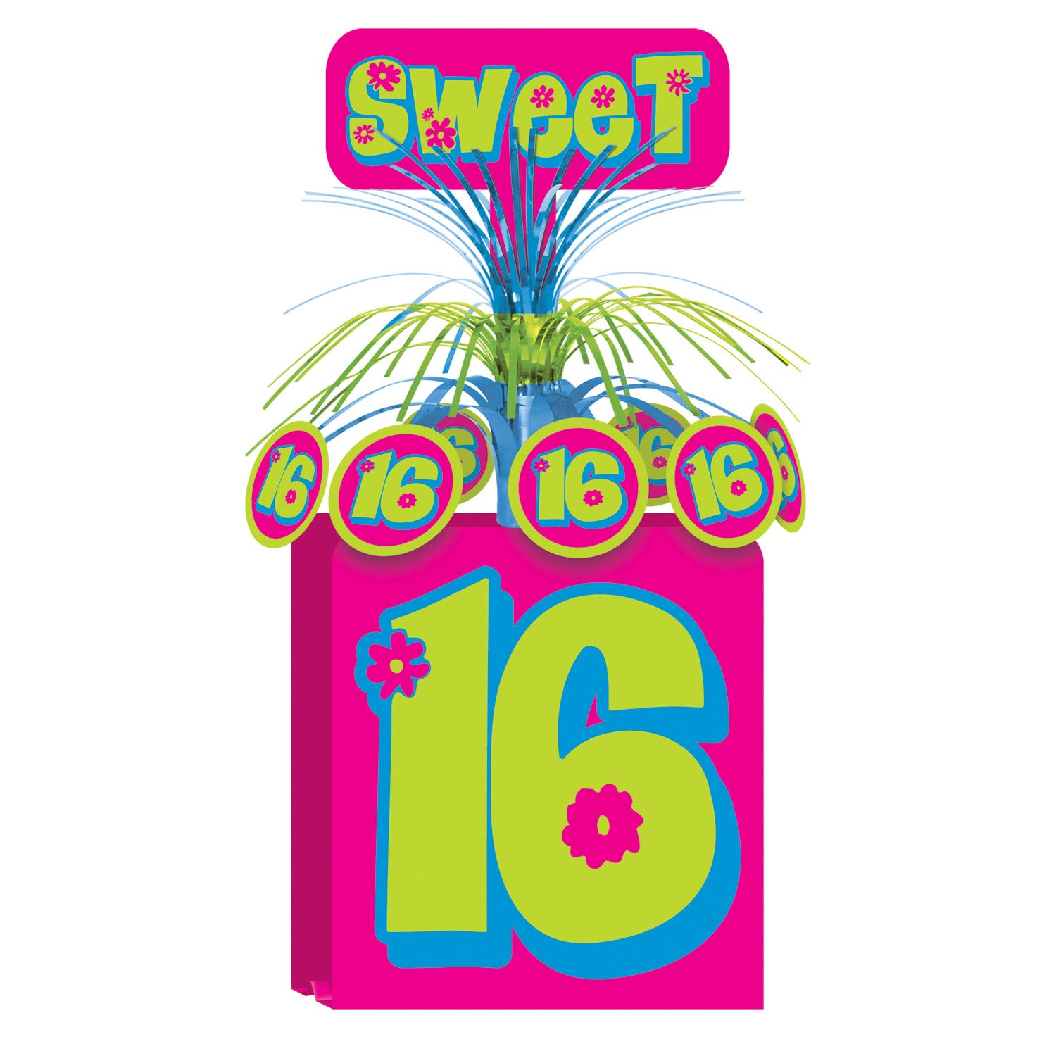 Sweet 16 Centerpiece by Beistle - Sweet 16 Birthday Decorations