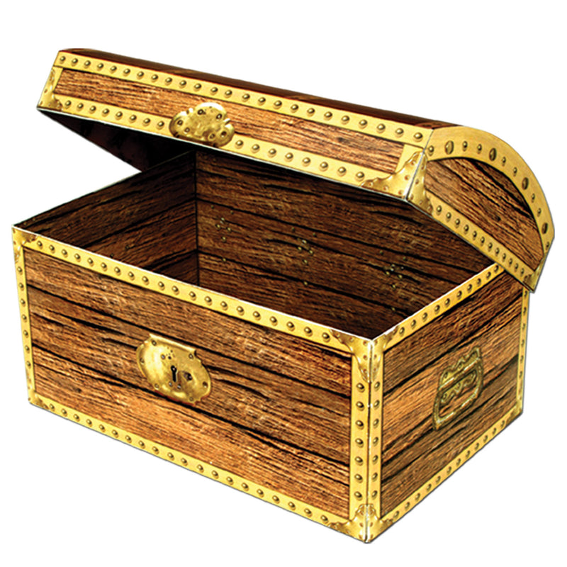 Treasure Chest Box by Beistle - Pirate Theme Decorations
