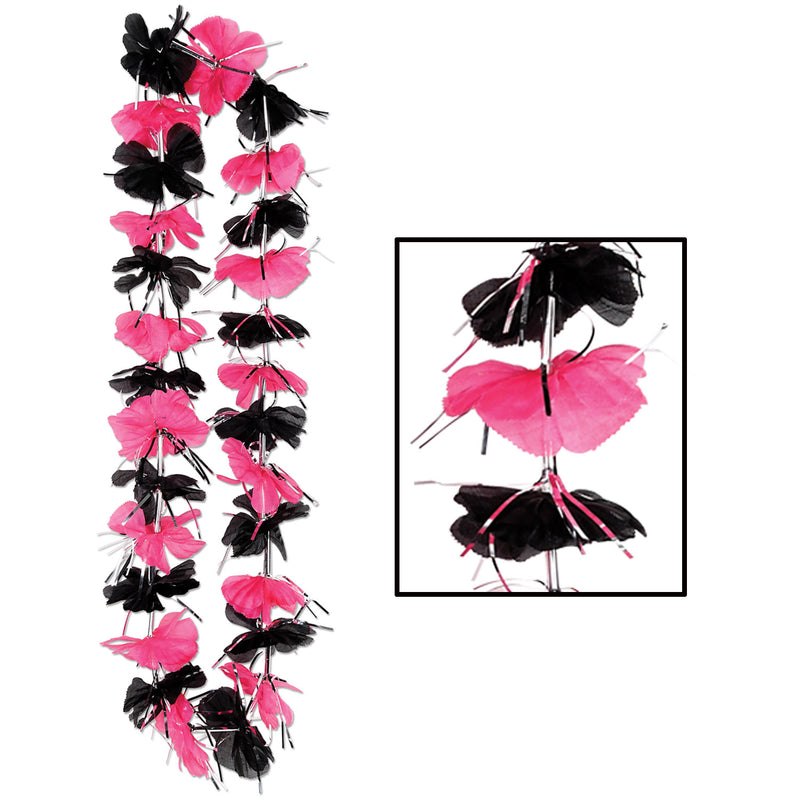 Pink & Black Party Lei by Beistle - Diva/Drama Queen Theme Decorations