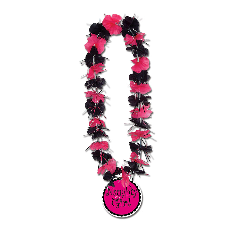 Party Lei w/Naughty Girl Medallion by Beistle - Bachelorette Theme Decorations
