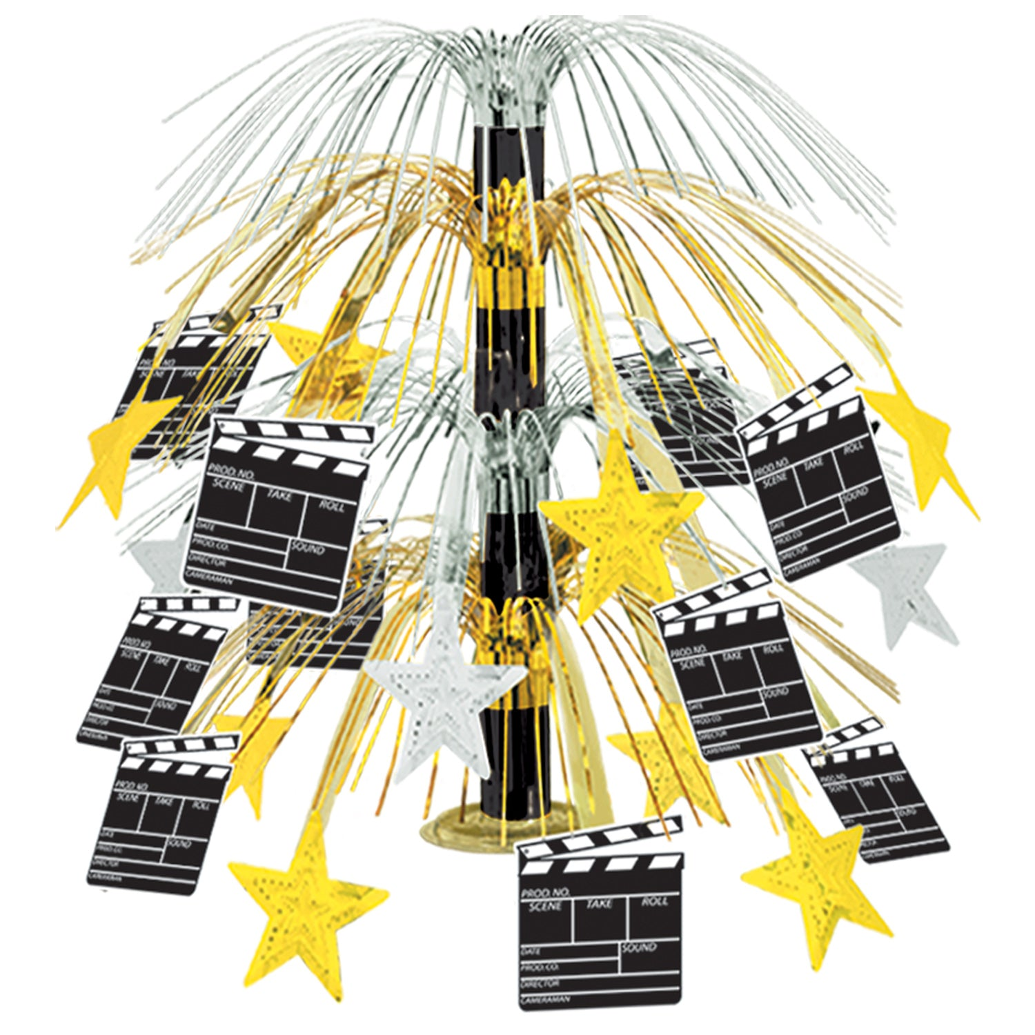 Movie Set Clapboard Cascade Centerpiece by Beistle - Awards Night Theme Decorations