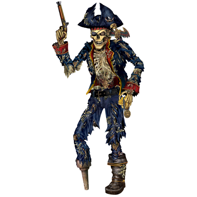 Jointed Pirate Skeleton by Beistle - Pirate Theme Decorations