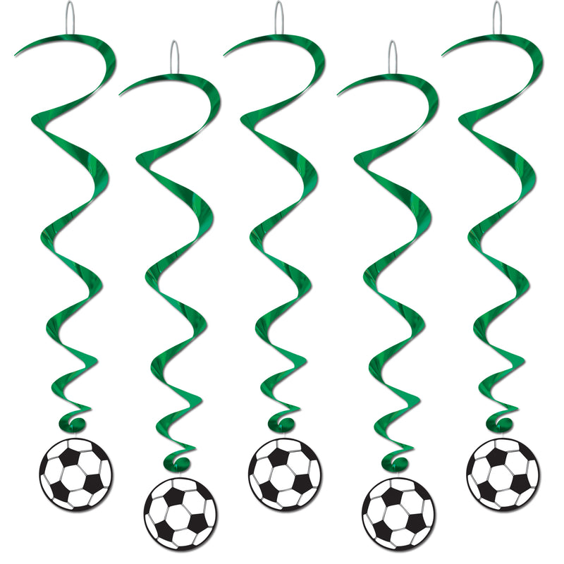Soccer Ball Whirls (5/Pkg) by Beistle - Soccer Theme Decorations