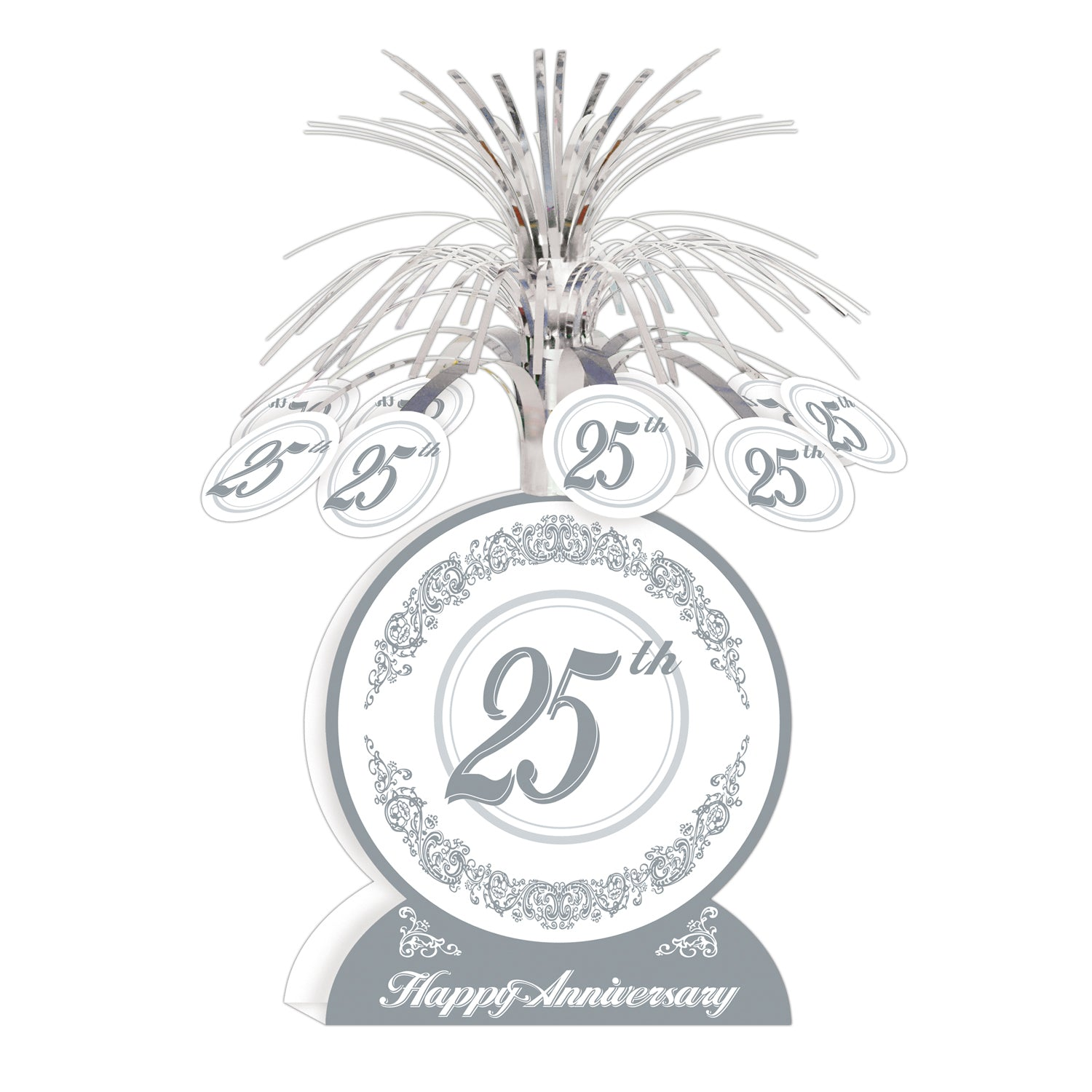 25th Anniversary Centerpiece by Beistle - Anniversary Theme Decorations