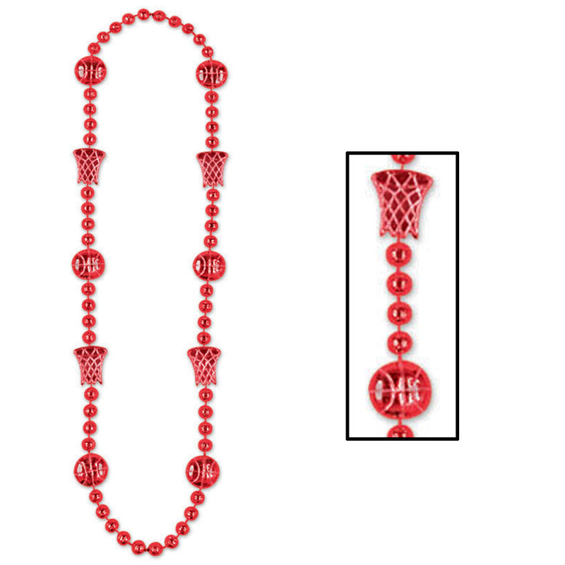 Basketball Beads, red by Beistle - Basketball Theme Decorations