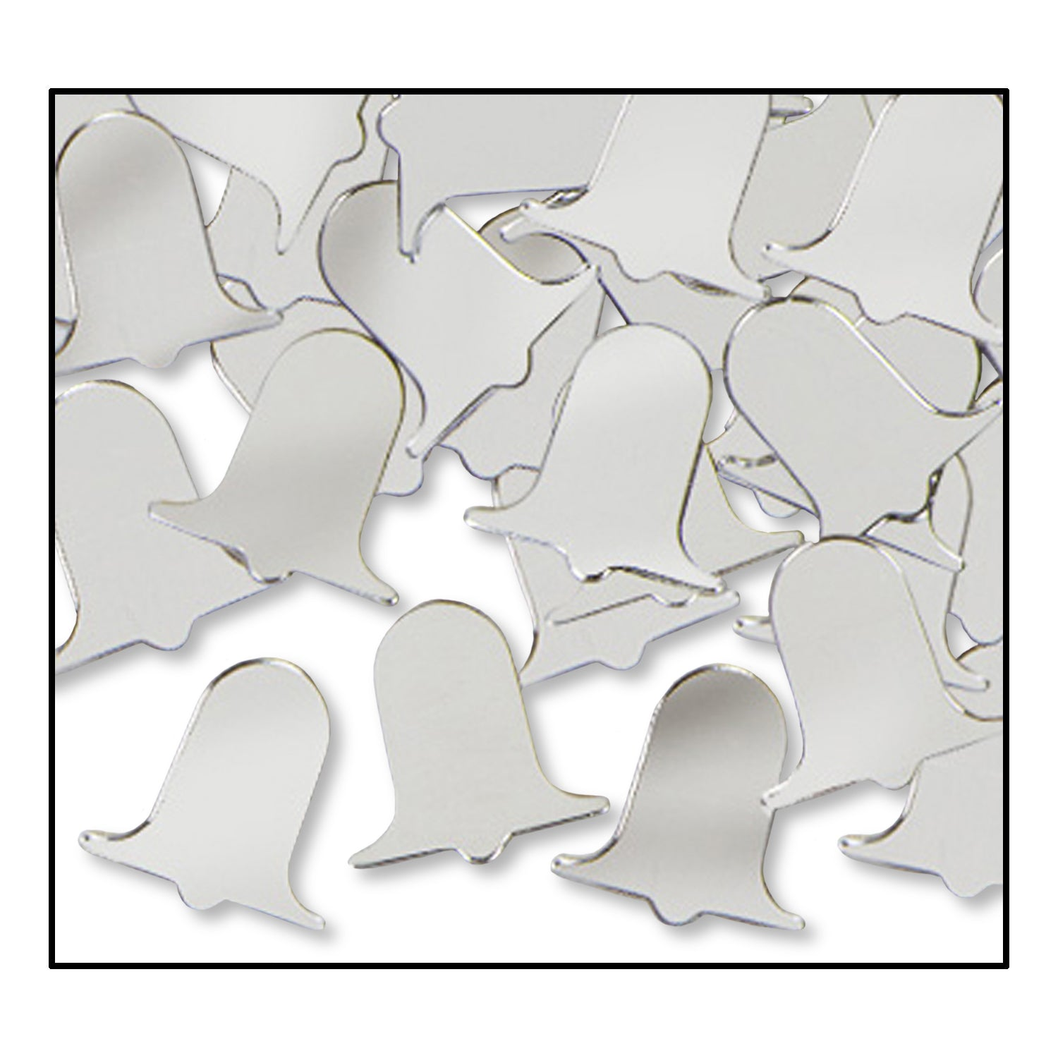 Confetti Bells (1 Oz/Pkg) silver by Beistle - Anniversary Theme Decorations