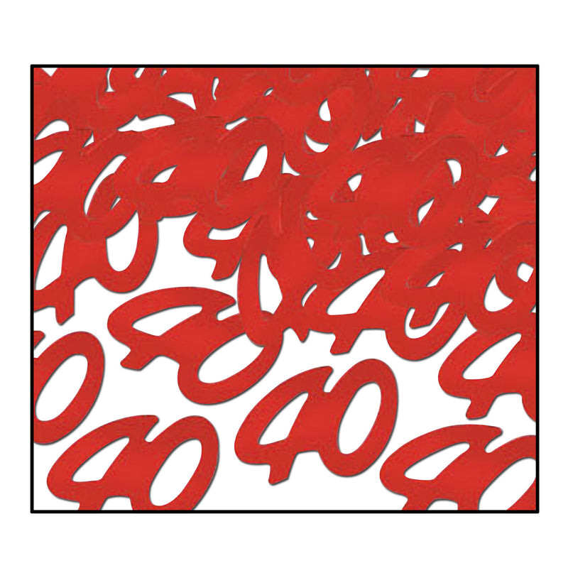 Confetti 40 Silhouettes (.5 Oz/Pkg) red by Beistle - Anniversary Theme Decorations