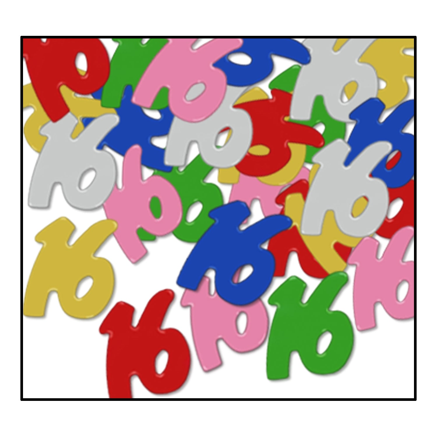 Confetti 16 Silhouettes (.5 Oz/Pkg) multi-color by Beistle - Sweet 16 Birthday Decorations