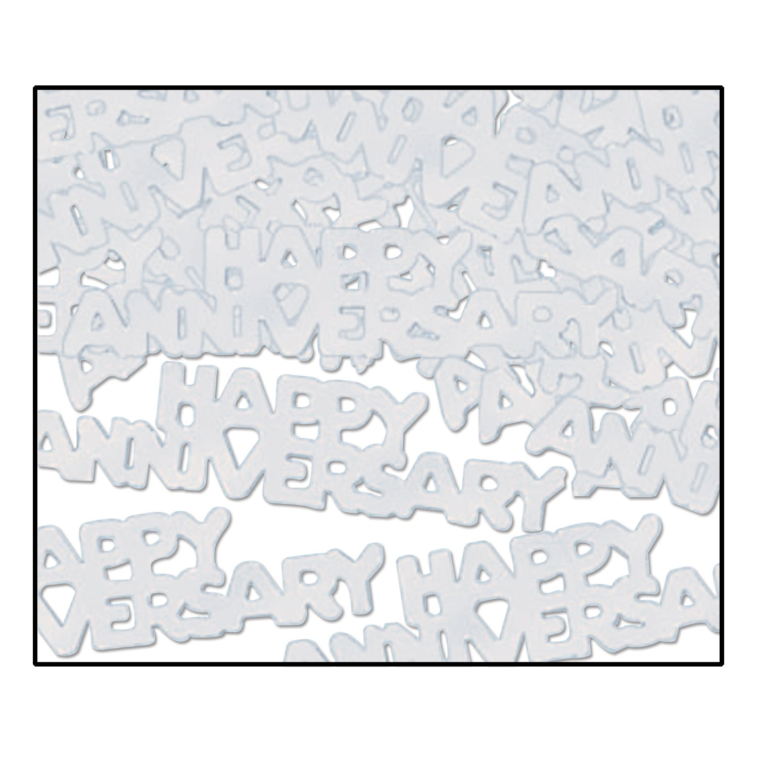 Happy Anniversary Confetti (.5 Oz/Pkg) silver by Beistle - Anniversary Theme Decorations