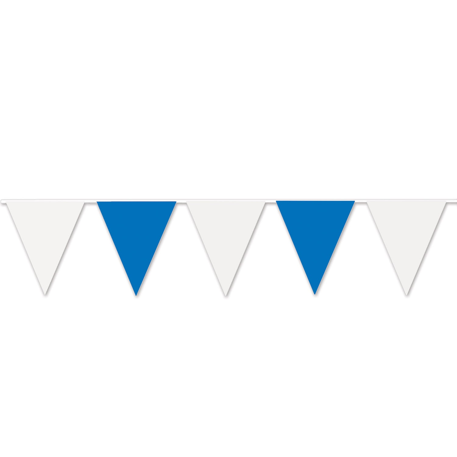 Blue & White Pennant Banner by Beistle - Oktoberfest Theme Decorations
