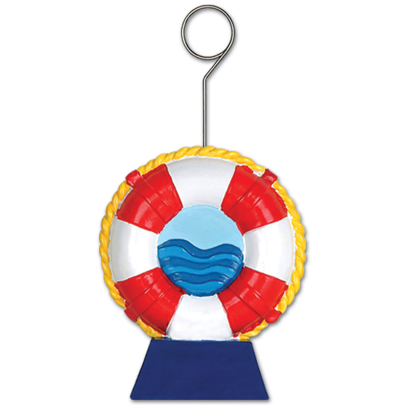 Life Preserver Photo/Balloon Holder by Beistle - Nautical Theme Decorations