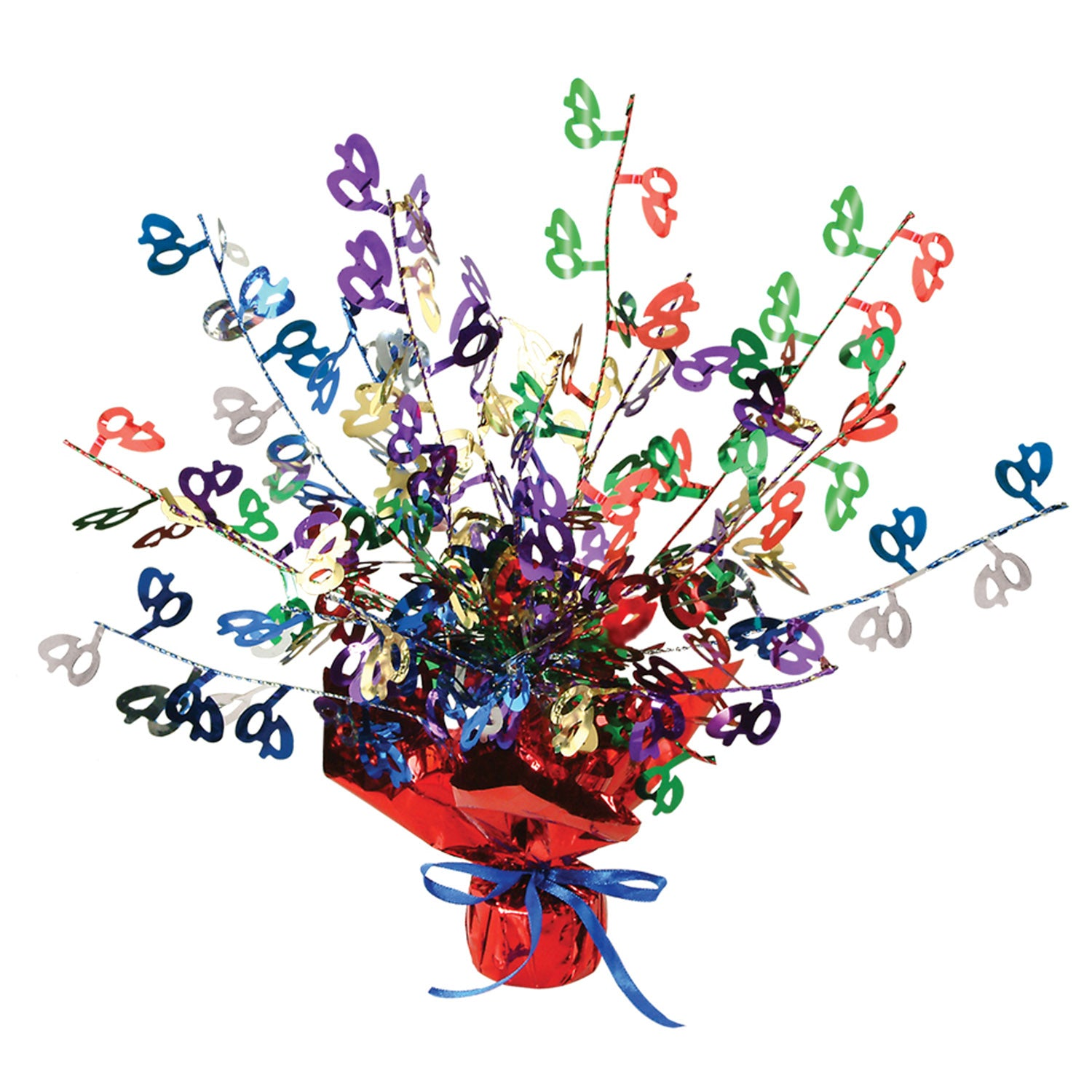 40 Gleam 'N Burst Centerpiece, multi-color by Beistle - 40th Birthday Party Decorations