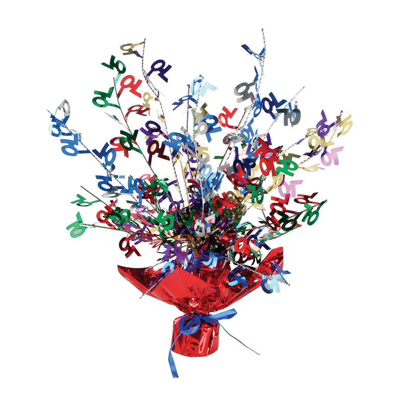 70 Gleam 'N Burst Centerpiece by Beistle - 70th Birthday Party Decorations