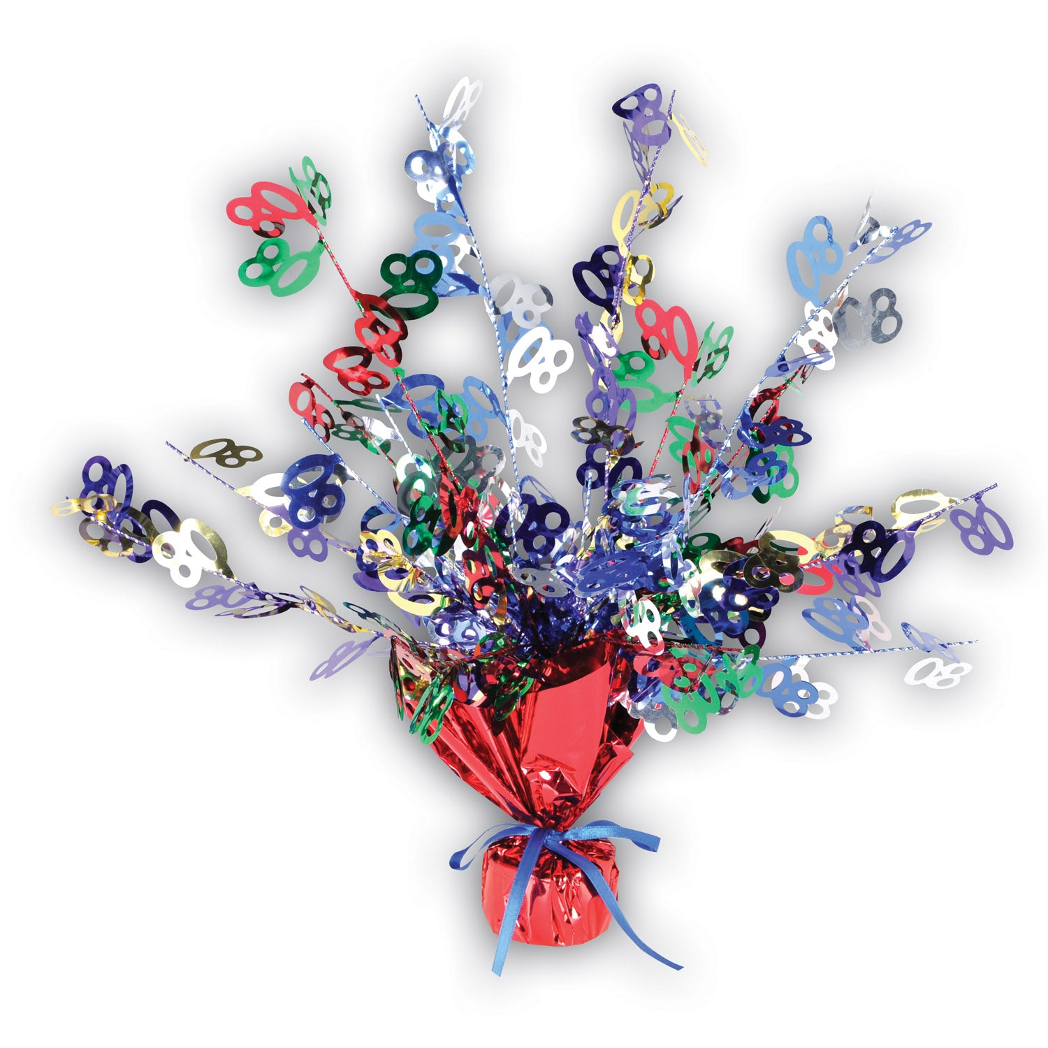 80 Gleam 'N Burst Centerpiece by Beistle - 80th Birthday Party Decorations