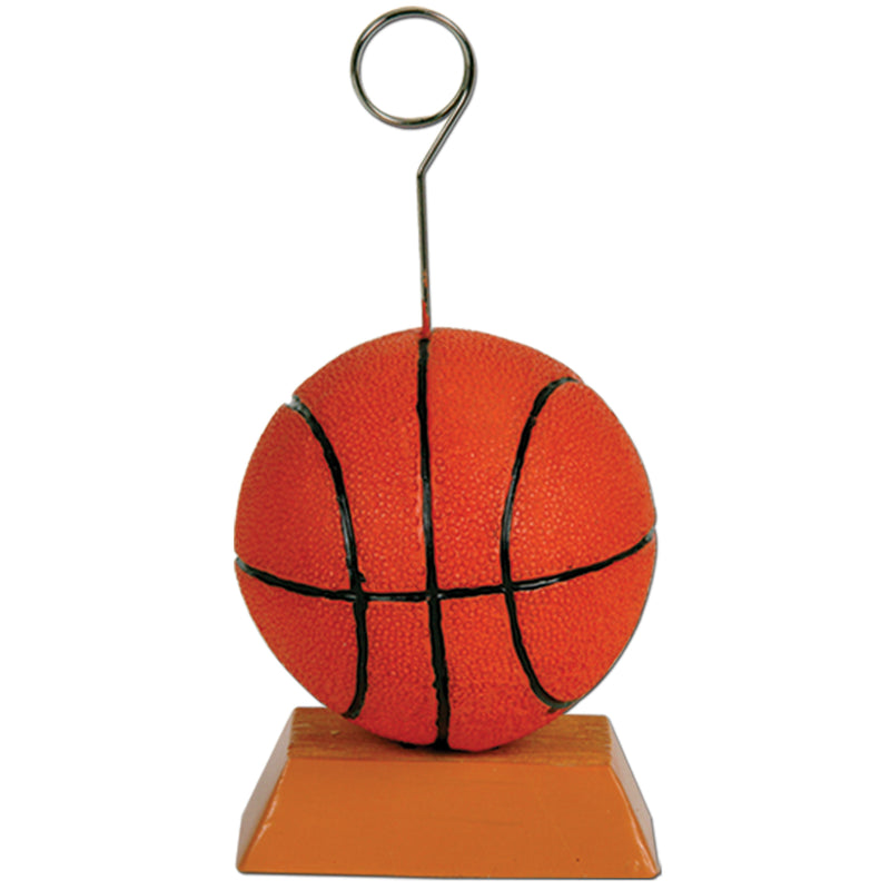 Basketball Photo/Balloon Holder by Beistle - Basketball Theme Decorations