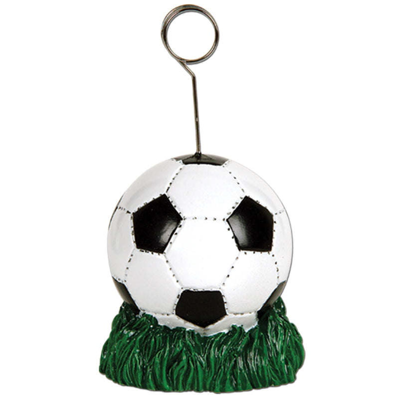 Soccer Ball Photo/Balloon Holder by Beistle - Soccer Theme Decorations