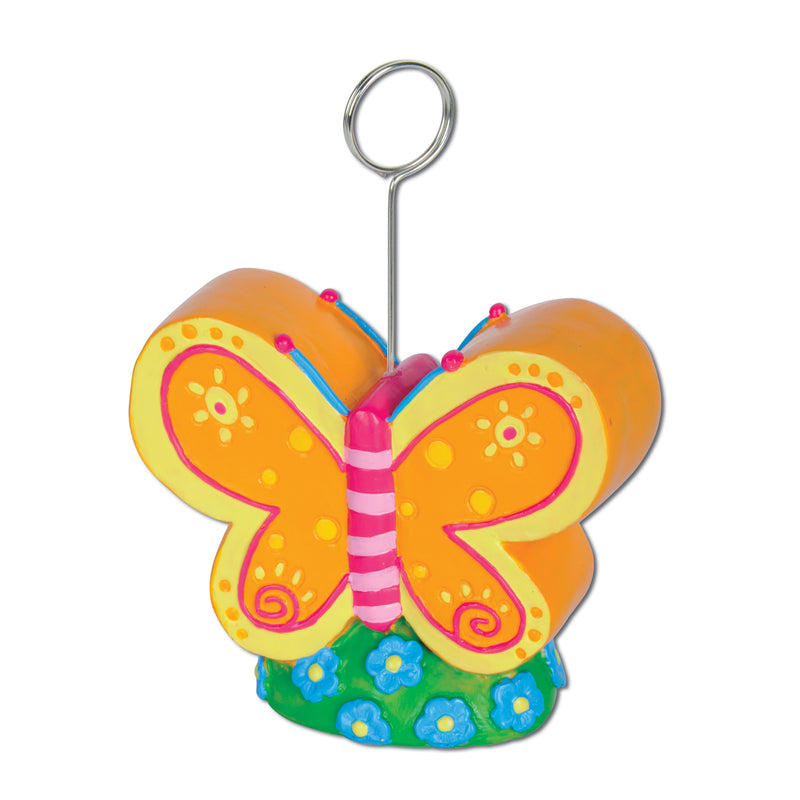 Butterfly Photo/Balloon Holder by Beistle - Spring/Summer Theme Decorations