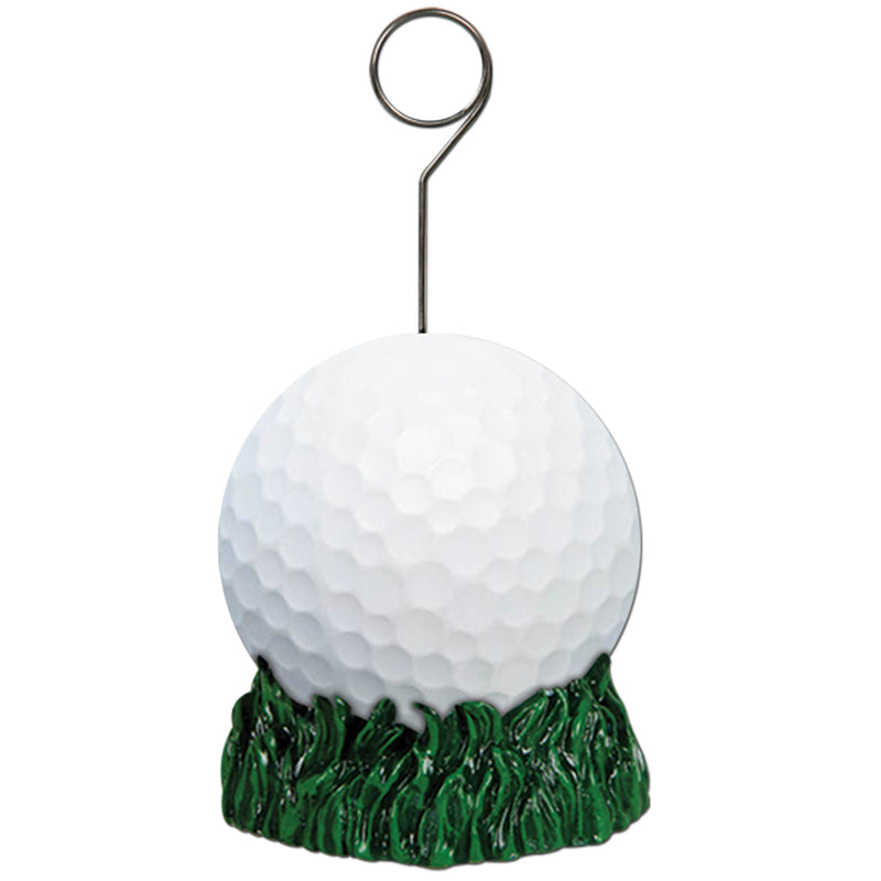 Golf Ball Photo/Balloon Holder by Beistle - Sports Theme Decorations