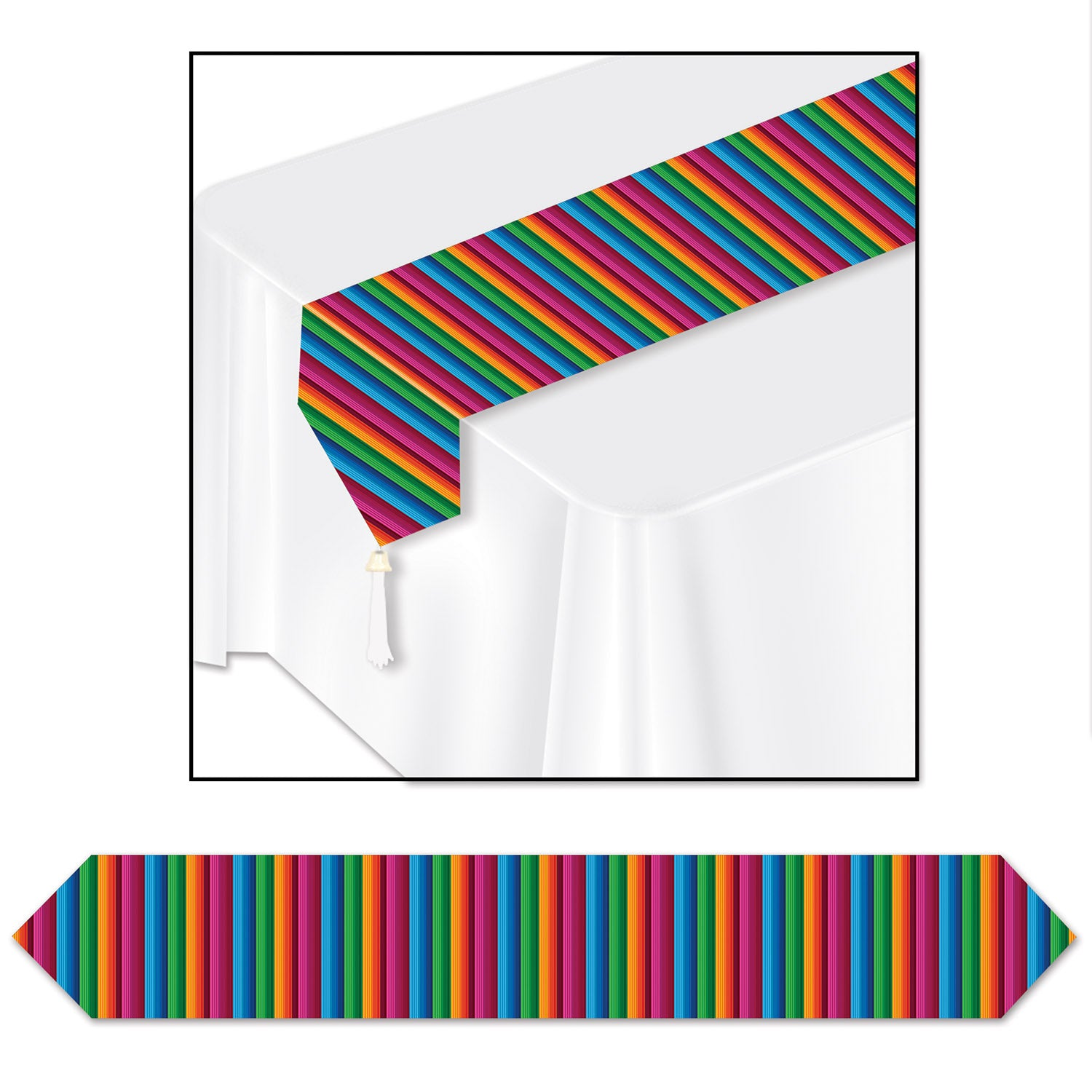 Printed Fiesta Table Runner by Beistle - Cinco de Mayo and Fiesta Party Supplies Decorations