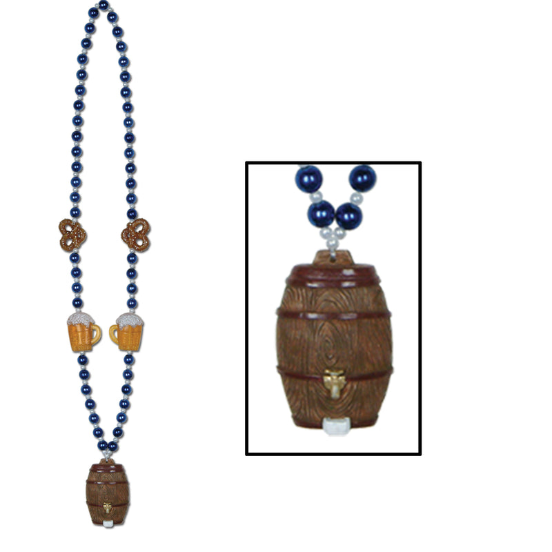 Oktoberfest Beads w/Keg Medallion by Beistle - Oktoberfest Theme Decorations