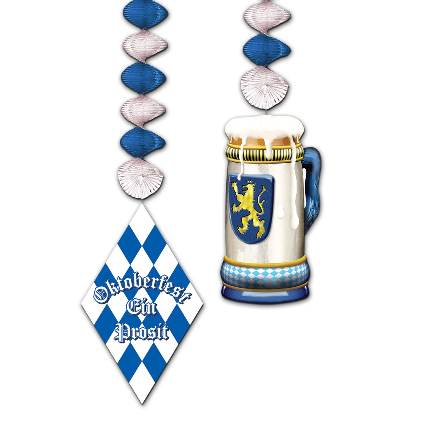 Oktoberfest Danglers (2/Pkg) by Beistle - Oktoberfest Theme Decorations