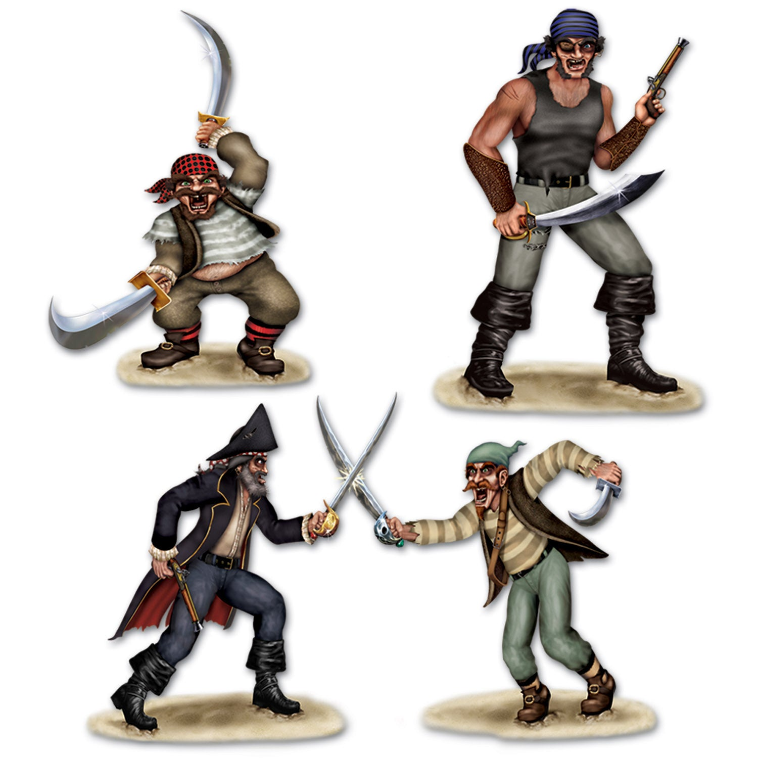 Dueling Pirate & Bandit Props (3/Pkg) by Beistle - Pirate Theme Decorations