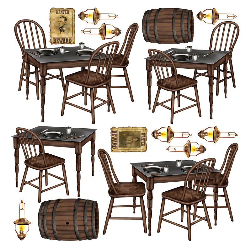 Saloon Table Props (15/Pkg) by Beistle - Western Theme Decorations