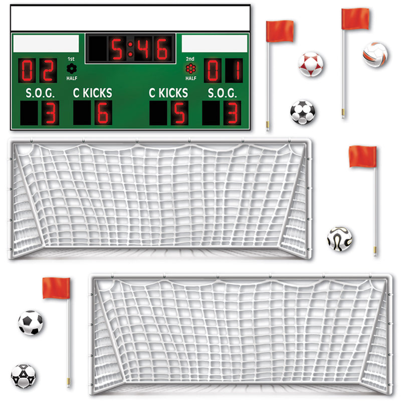 Soccer Props (13/Pkg) by Beistle - Soccer Theme Decorations