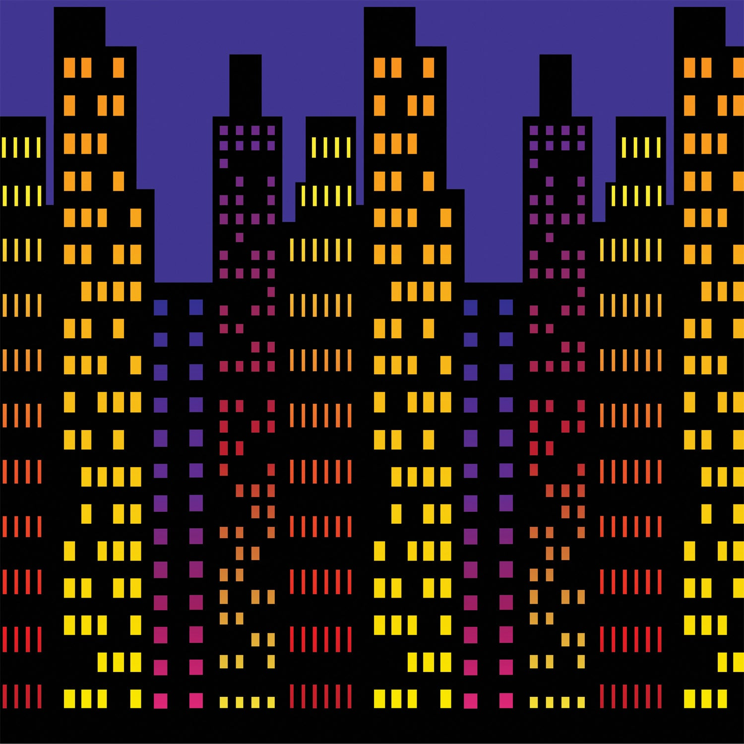 Cityscape Backdrop by Beistle - Awards Night Theme Decorations