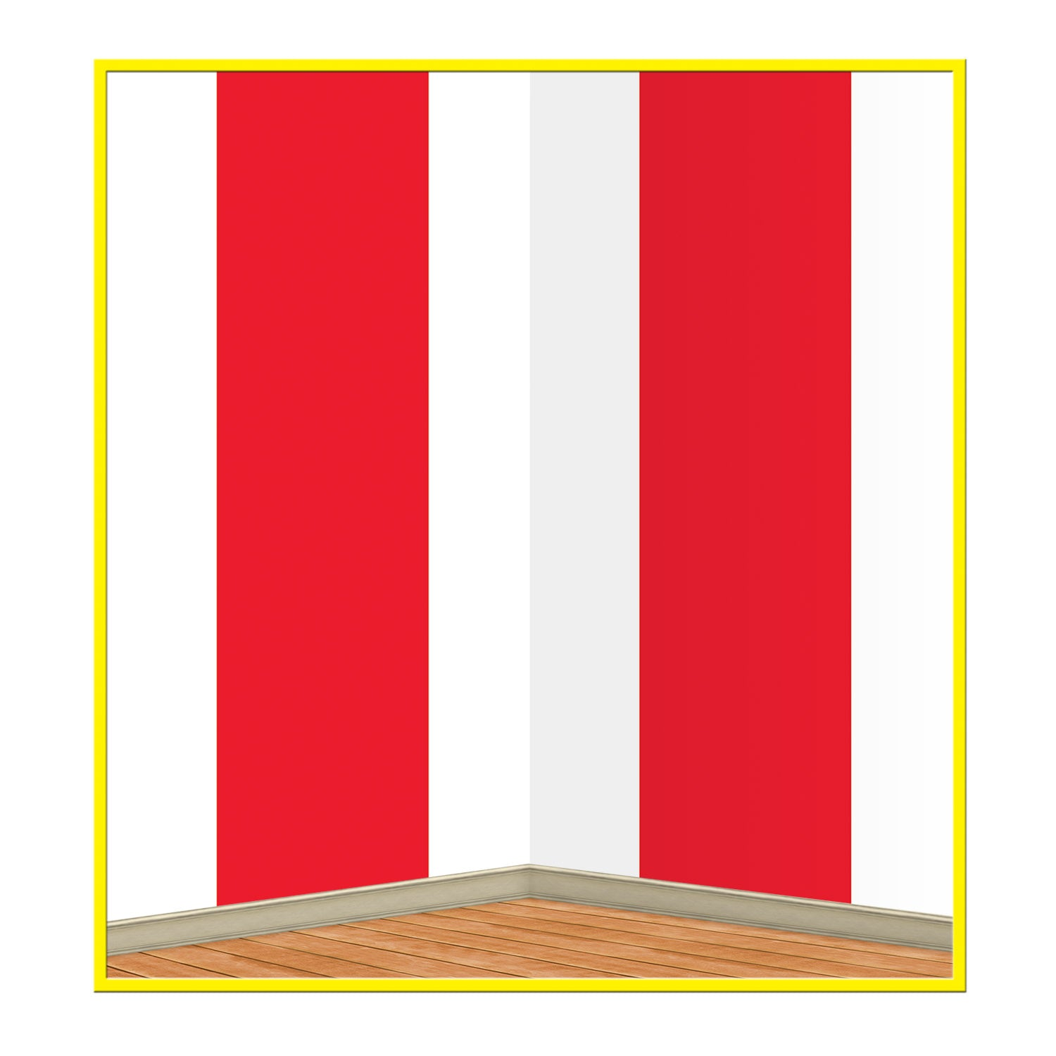 Red & White Stripes Backdrop by Beistle - Circus Theme Decorations
