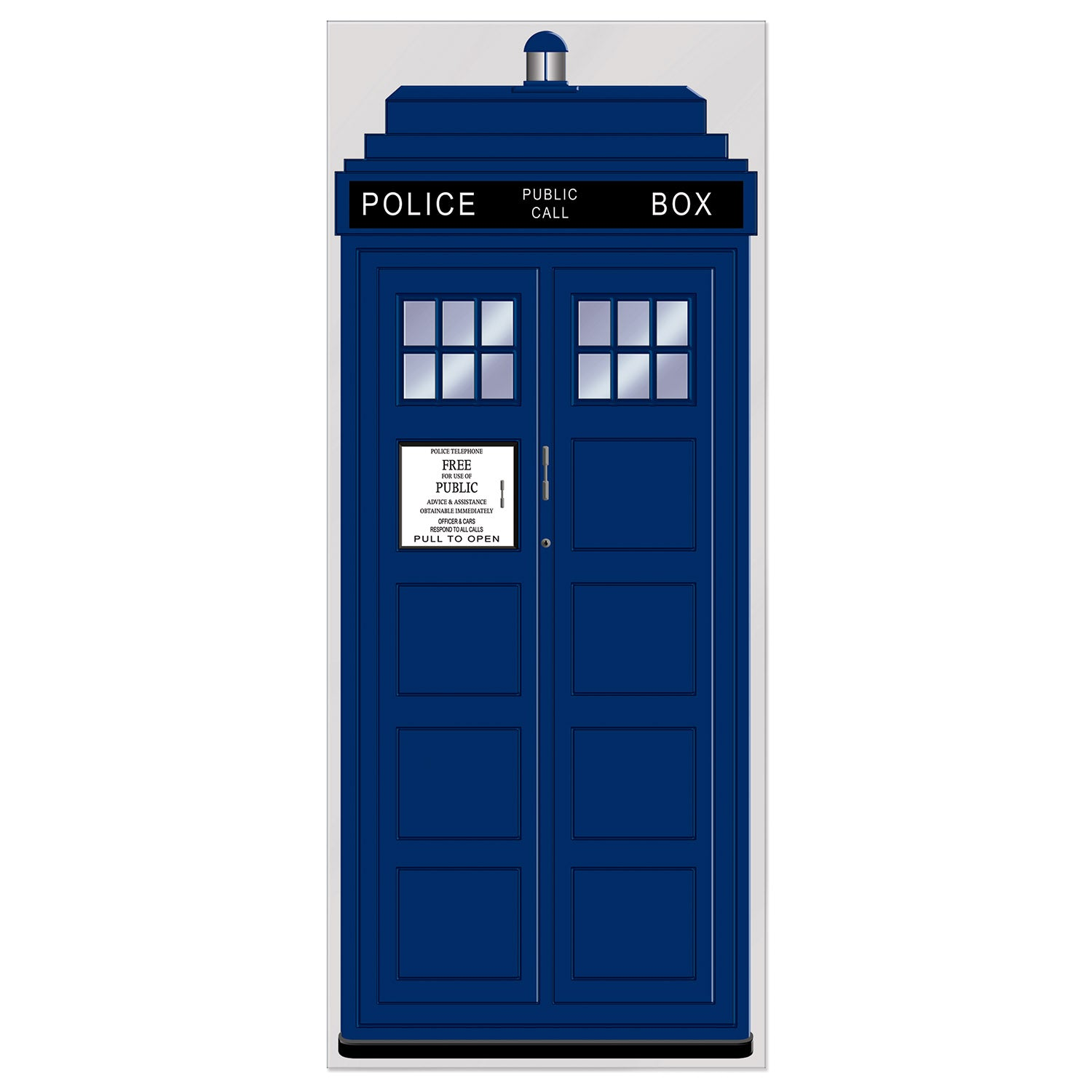 Police Call Box Door Cover by Beistle - British Theme Decorations