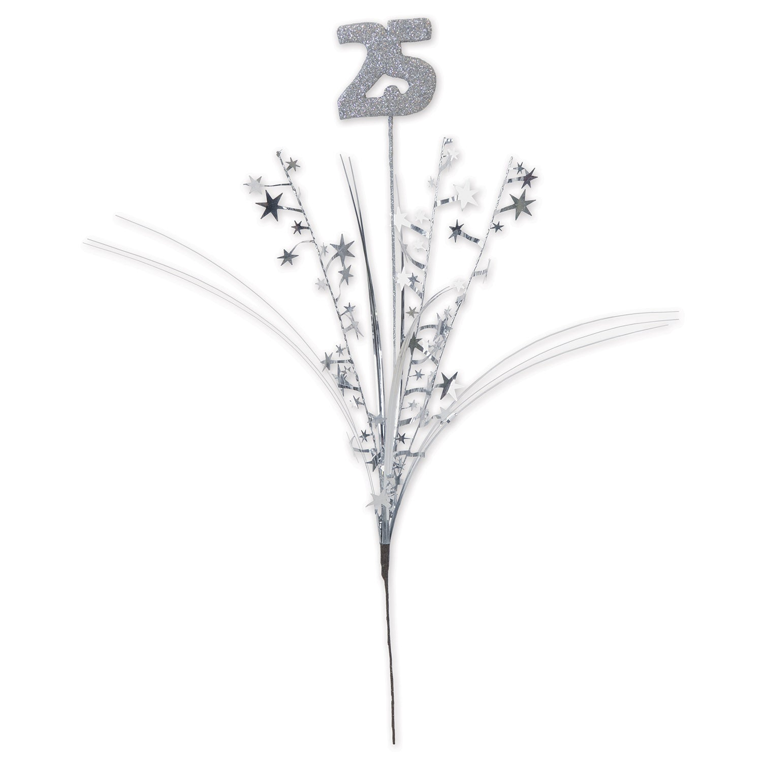Glittered 25 Metallic Star Spray by Beistle - Anniversary Theme Decorations