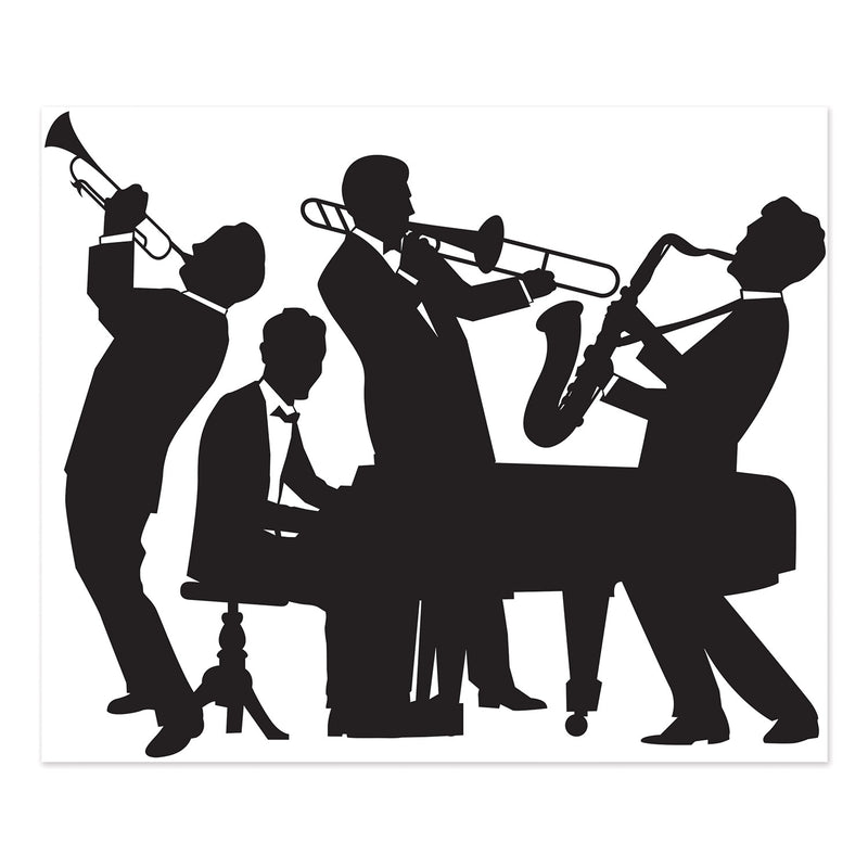 Great 20's Jazz Band Insta-Mural by Beistle - 20's Theme Decorations