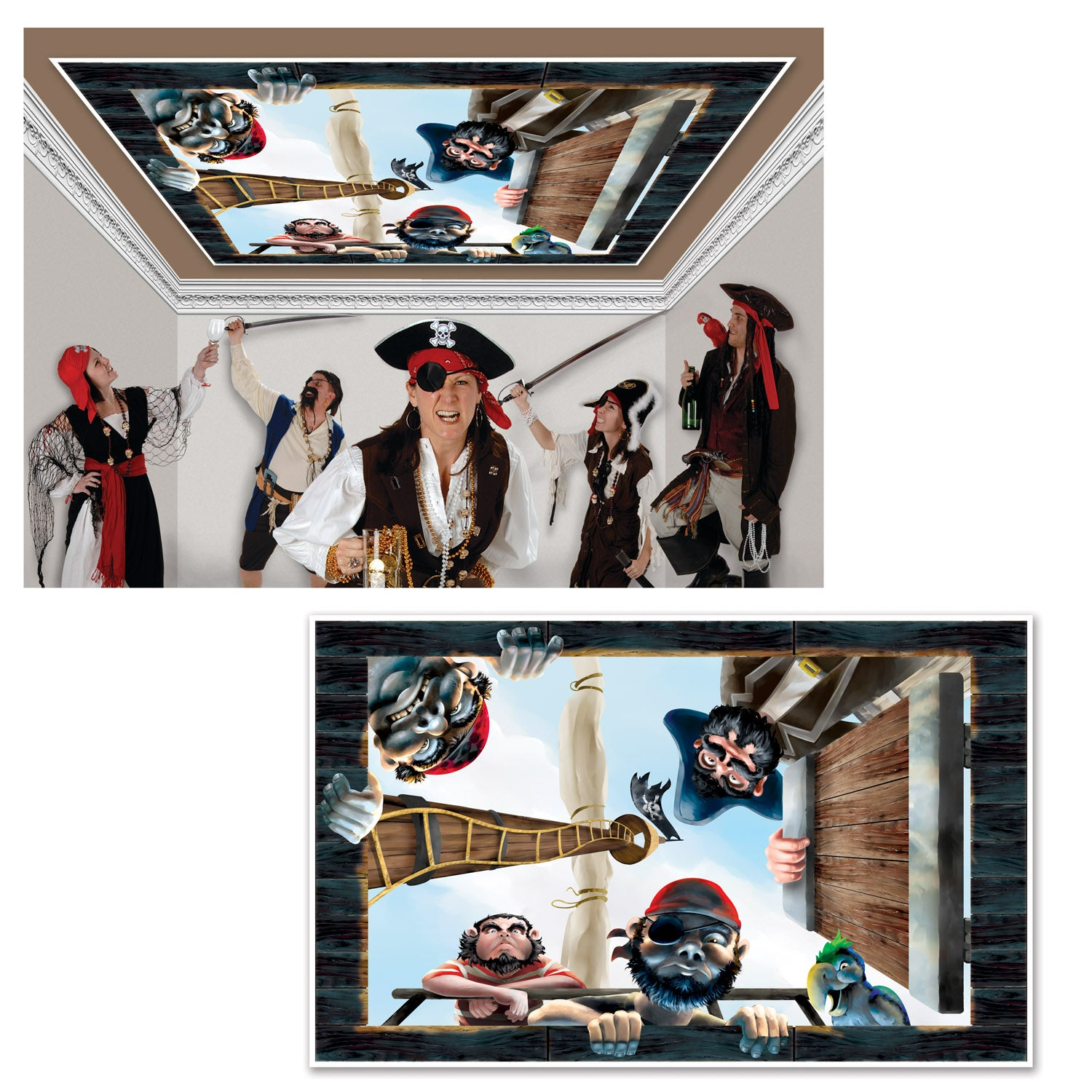 Pirate Insta-View by Beistle - Pirate Theme Decorations