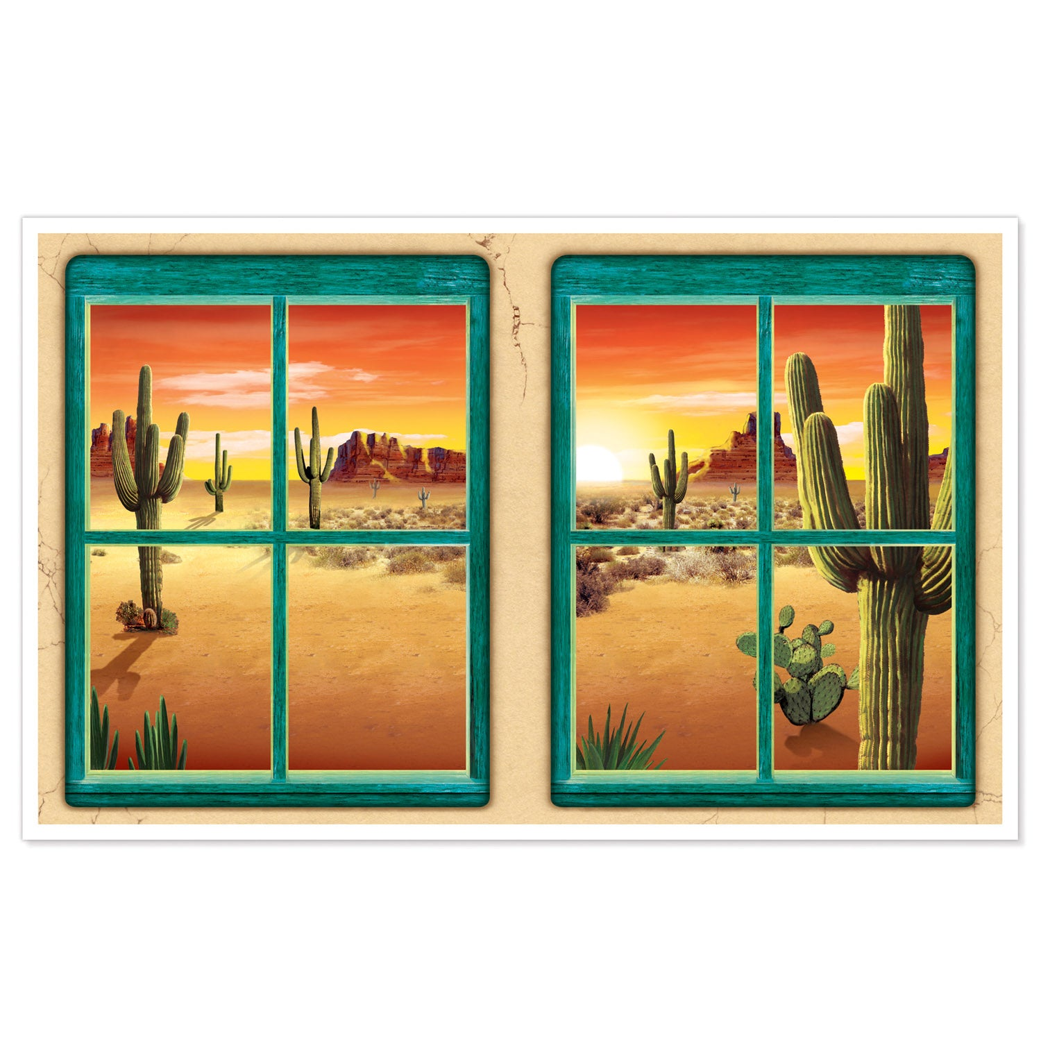 Desert Insta-View by Beistle - Western Theme Decorations