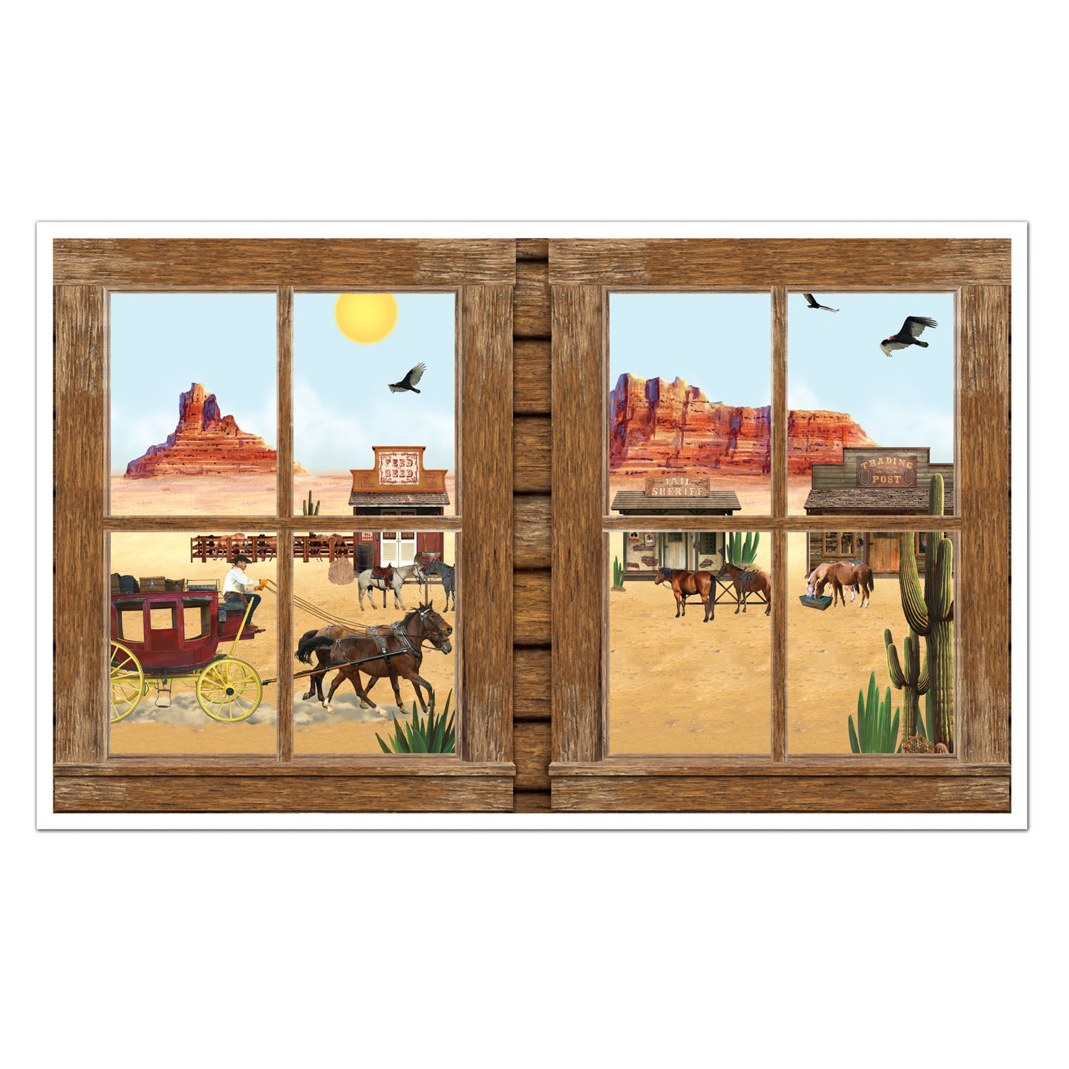 Western Insta-View by Beistle - Western Theme Decorations