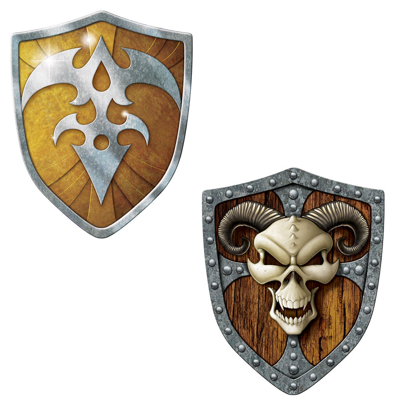 Shield Cutouts (2/Pkg) by Beistle - Fantasy Theme Decorations