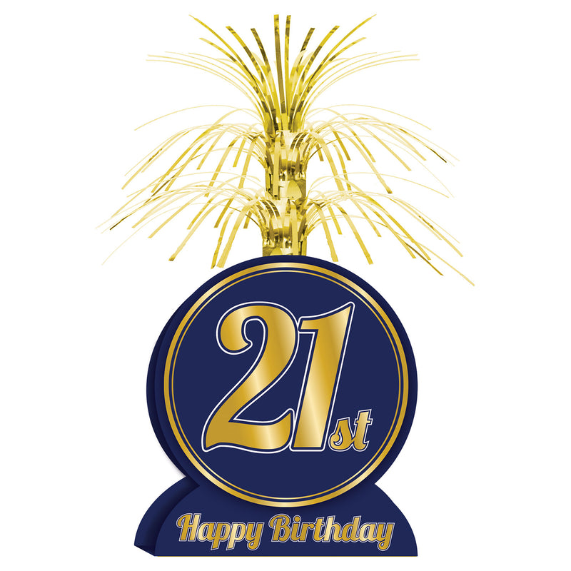 21st Birthday Centerpiece by Beistle - 21st Birthday Theme Decorations