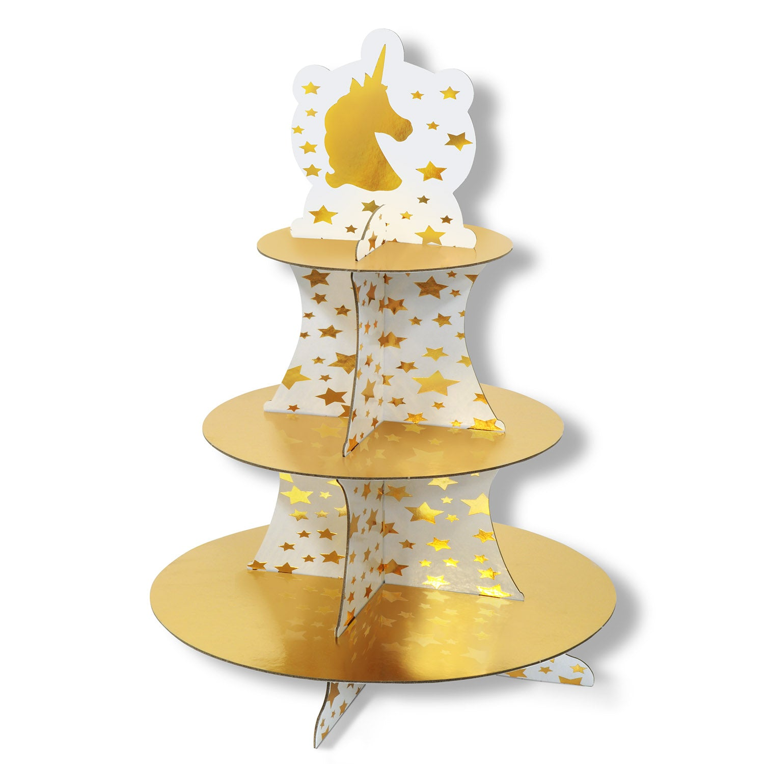 Unicorn Cupcake Stand by Beistle - Unicorn Theme Decorations