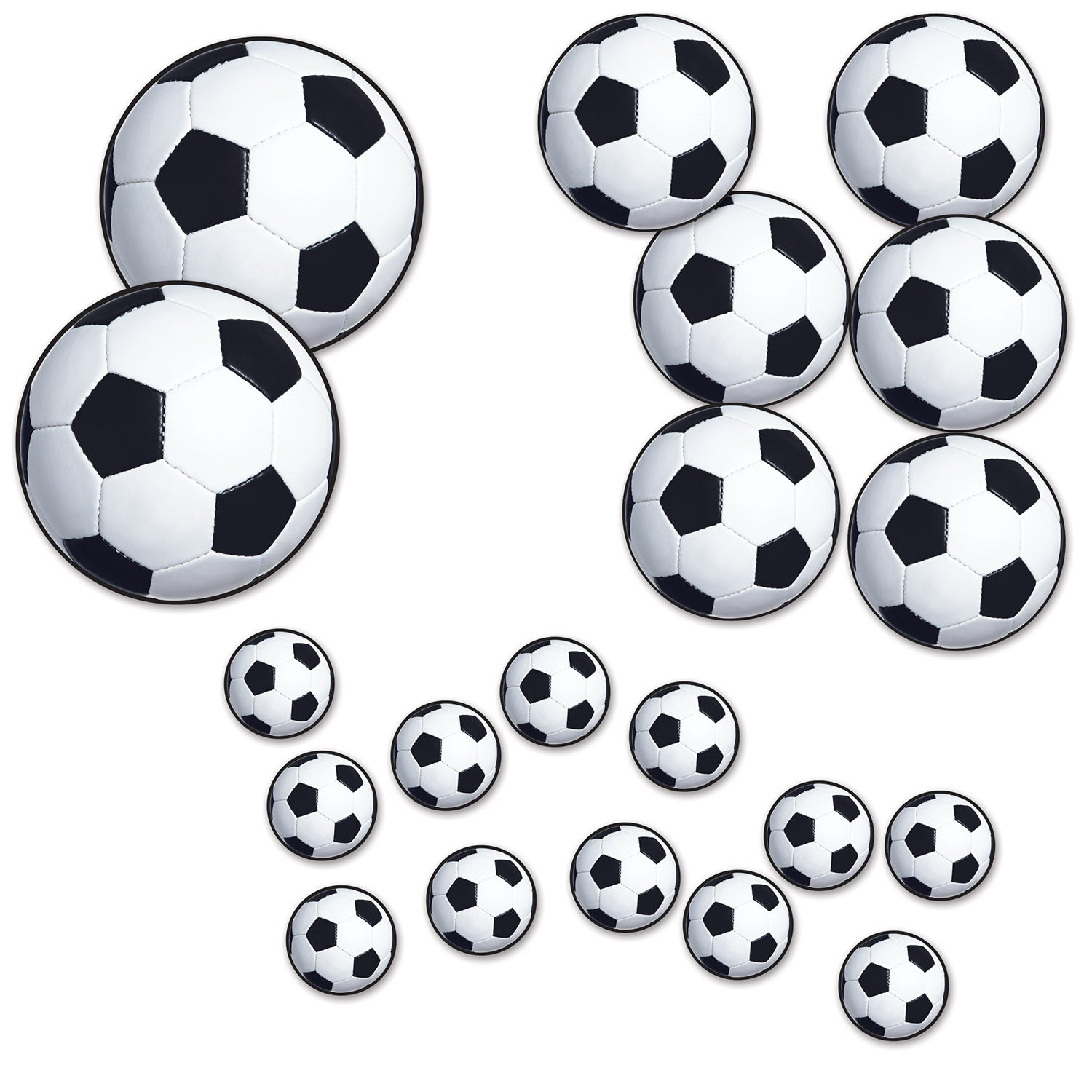 Soccer Ball Cutouts (20/Pkg) by Beistle - Soccer Theme Decorations