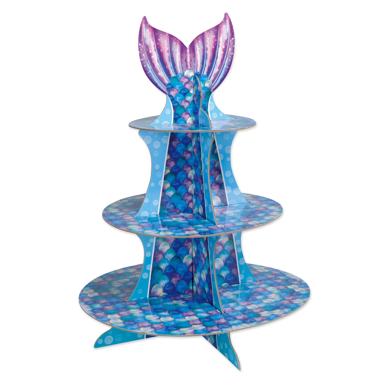 Mermaid Cupcake Stand by Beistle - Mermaid Theme Decorations