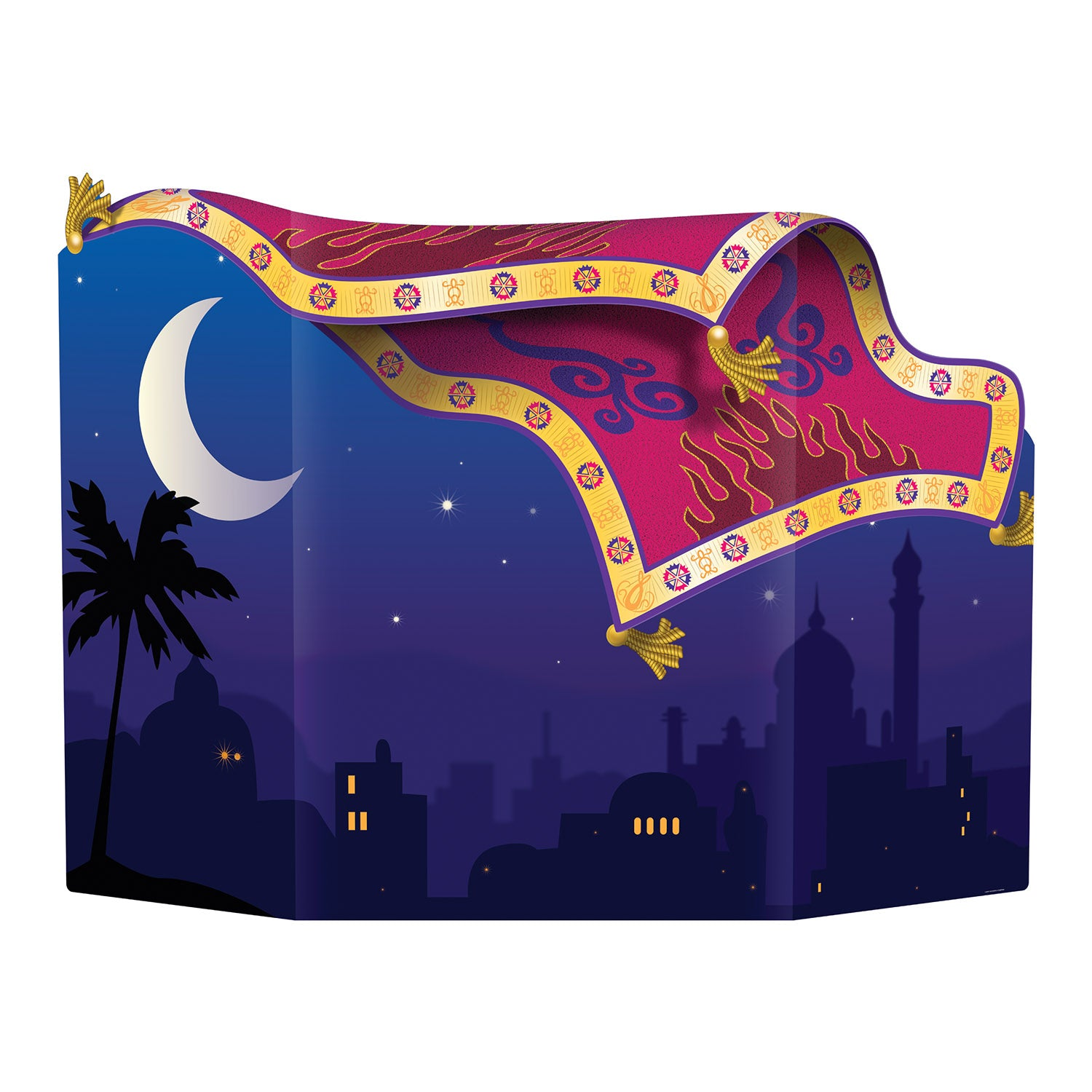 Magic Carpet Photo Prop by Beistle - Arabian Nights Theme Decorations